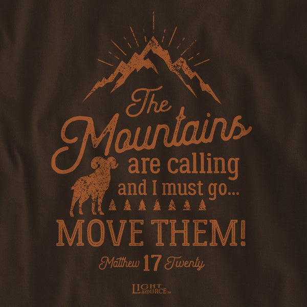 Light Source Mens Long Sleeve T-Shirt Mountains Calling