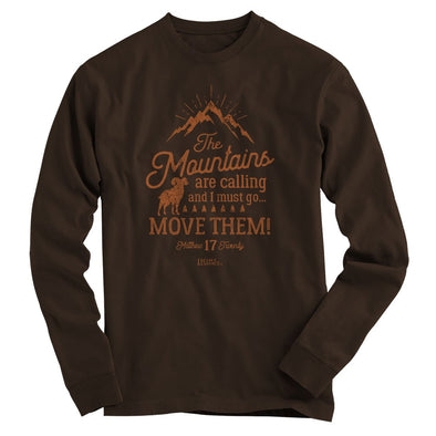 Light Source Mens Long Sleeve T-Shirt Mountains Calling T-Shirts