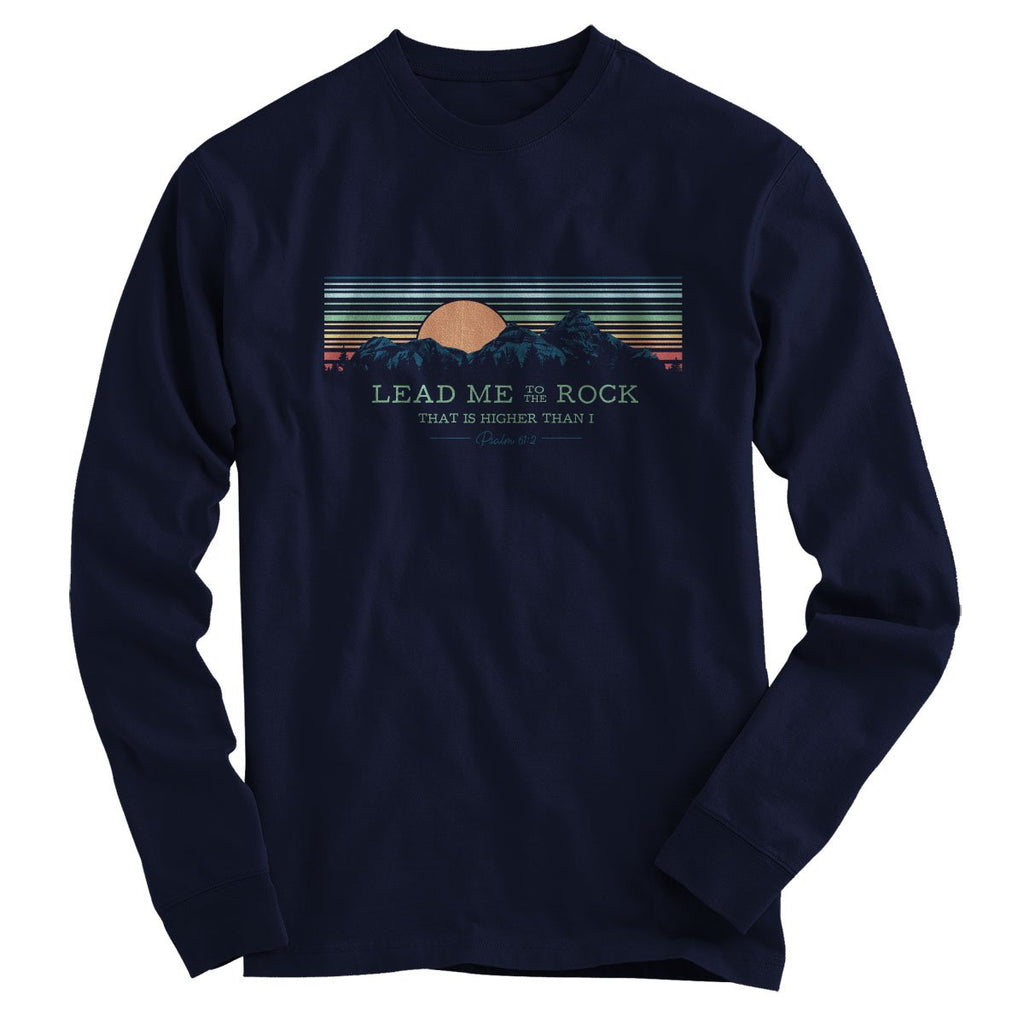 Light Source Mens Long Sleeve T-Shirt Aim Higher