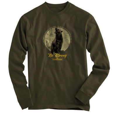 Light Source Mens Long Sleeve T-Shirt Bear Moon T-Shirts
