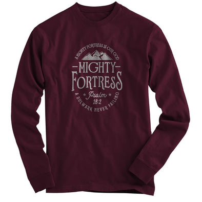 Light Source Mens Long Sleeve T-Shirt Mighty Fortress T-Shirts