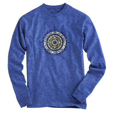 Light Source Mens Long Sleeve T-Shirt Compass Path T-Shirts