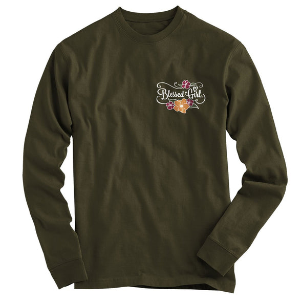 Blessed Girl Womens Long Sleeve T-Shirt Let All You Do T-Shirts