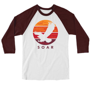 Light Source Mens Raglan T-Shirt Soar Eagle T-Shirts