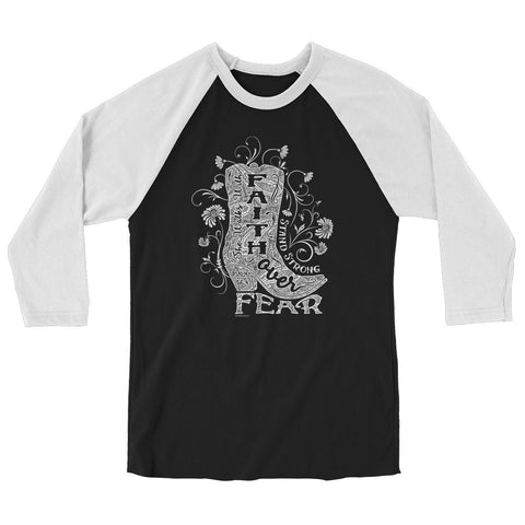 Faith Boot 2 3/4-Sleeve Raglan T-Shirt