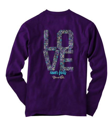 Love Never Fails Long-Sleeve T-Shirt