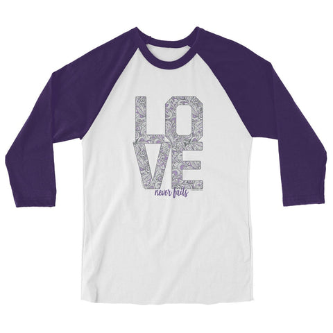 Love Stack 3/4-Sleeve Raglan T-Shirt