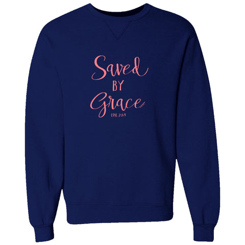 Saved by Grace Crewneck Sweatshirt