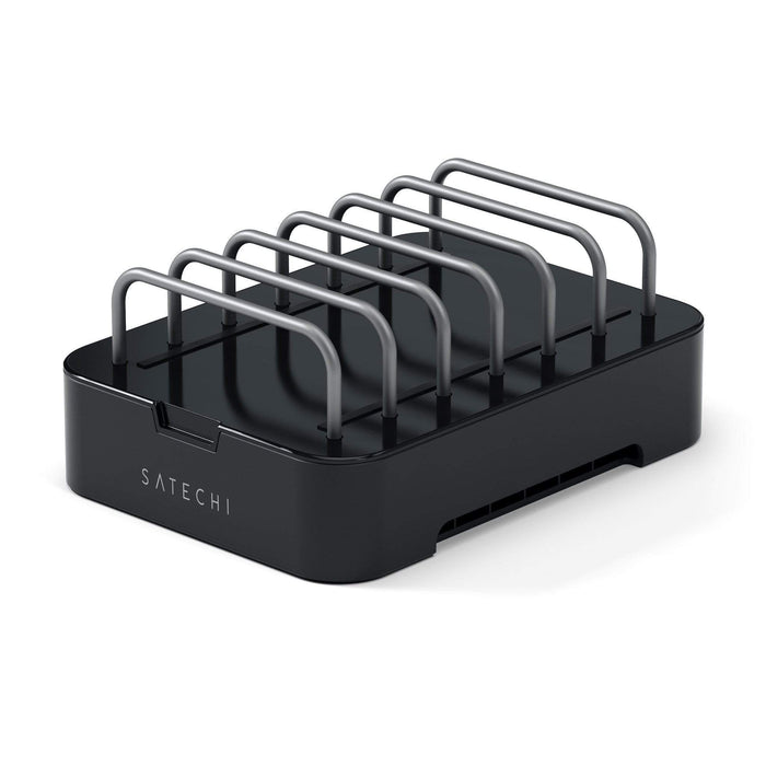 6-Port Customizable Media Organizer Desktop Charging Station Charging Stations Satechi