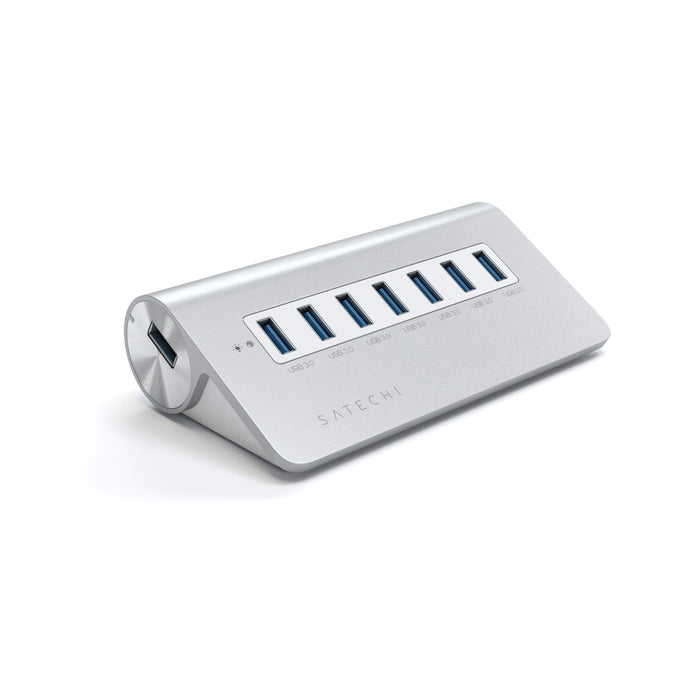 Aluminum 7-Port USB 3.0 Hub for iMac, MacBook Air, MacBook Pro, MacBook and Mac Mini USB Hubs Satechi White