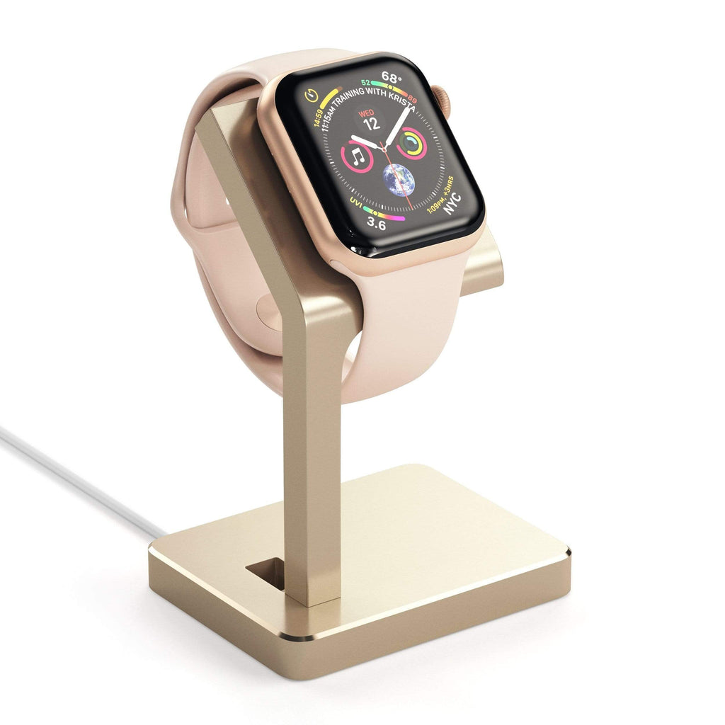 Aluminum Apple Watch Series 1, 2, 3 and 4 Charging Stand Smart Watch Satechi Gold