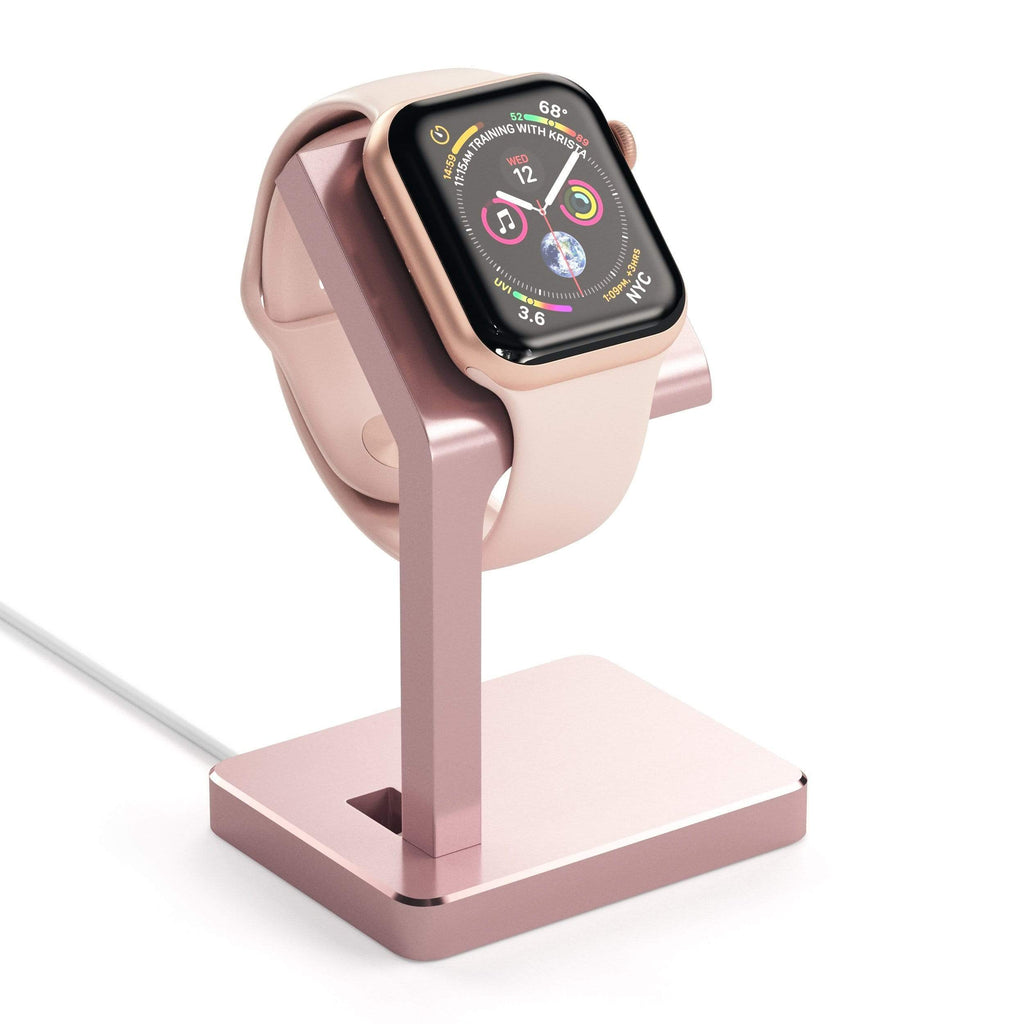 Aluminum Apple Watch Series 1, 2, 3 and 4 Charging Stand Smart Watch Satechi Rose Gold