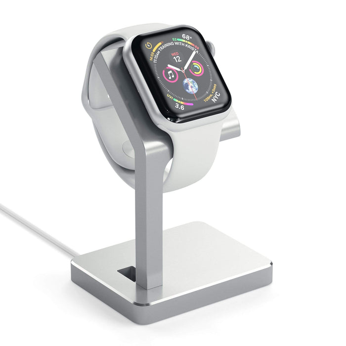 Aluminum Apple Watch Series 1, 2, 3 and 4 Charging Stand Smart Watch Satechi Silver