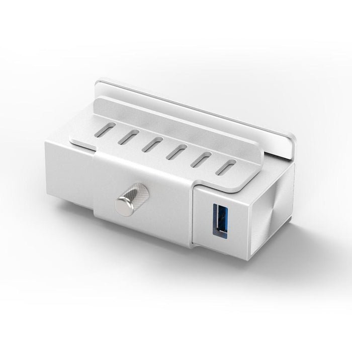 Aluminum Clamp Hub 4-Port USB 3.0 Compatible with iMacs Released 2012 and Later USB Hubs Satechi