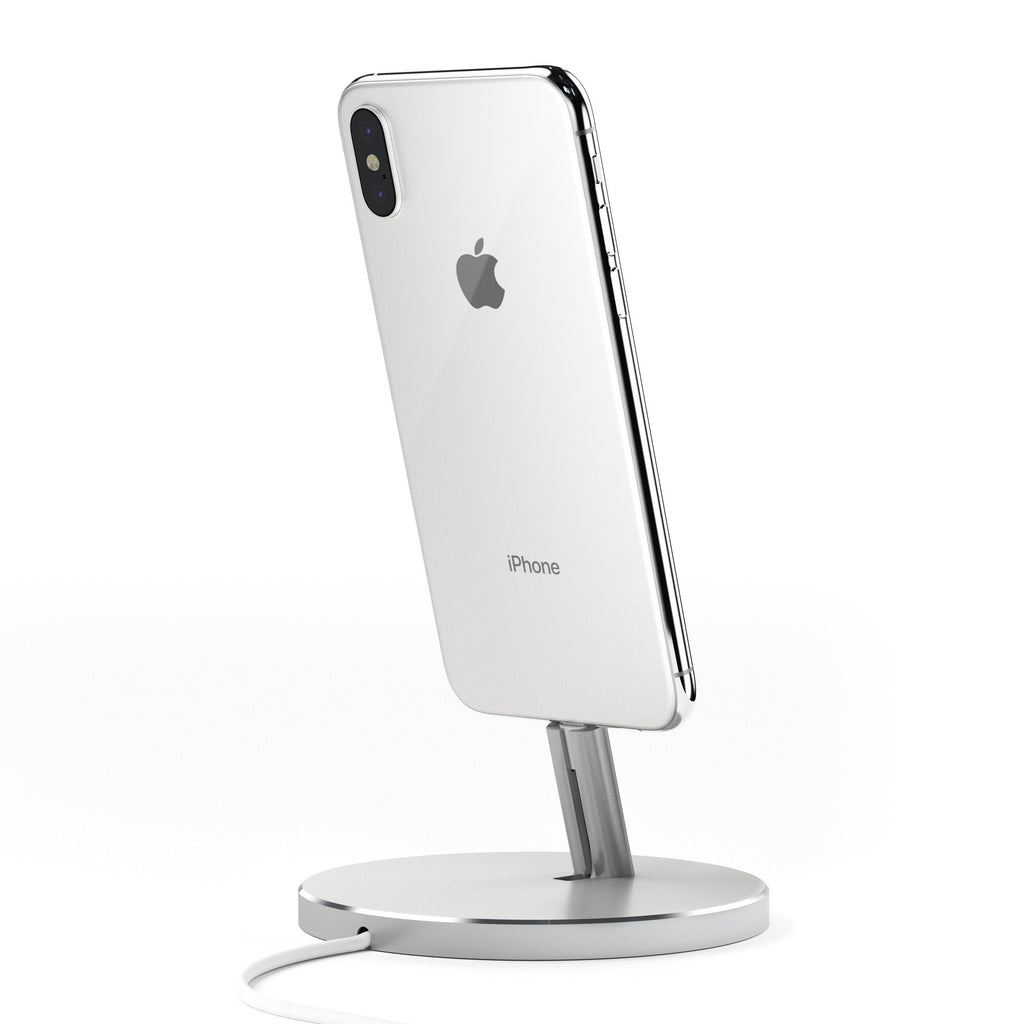 Aluminum Lightning Charging Stand Mobile/ Tablet Satechi Silver