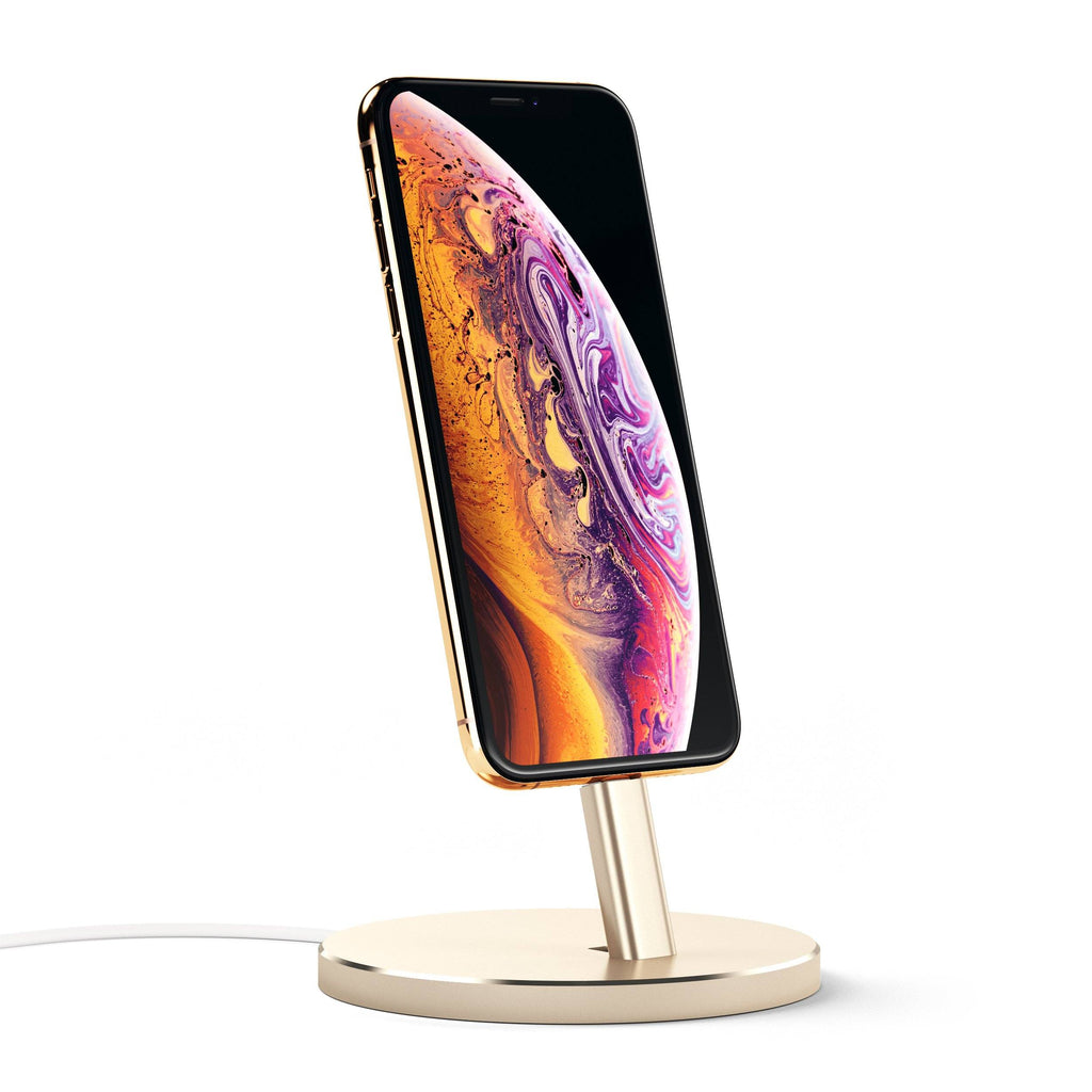 Aluminum Lightning Charging Stand Mobile/ Tablet Satechi Gold