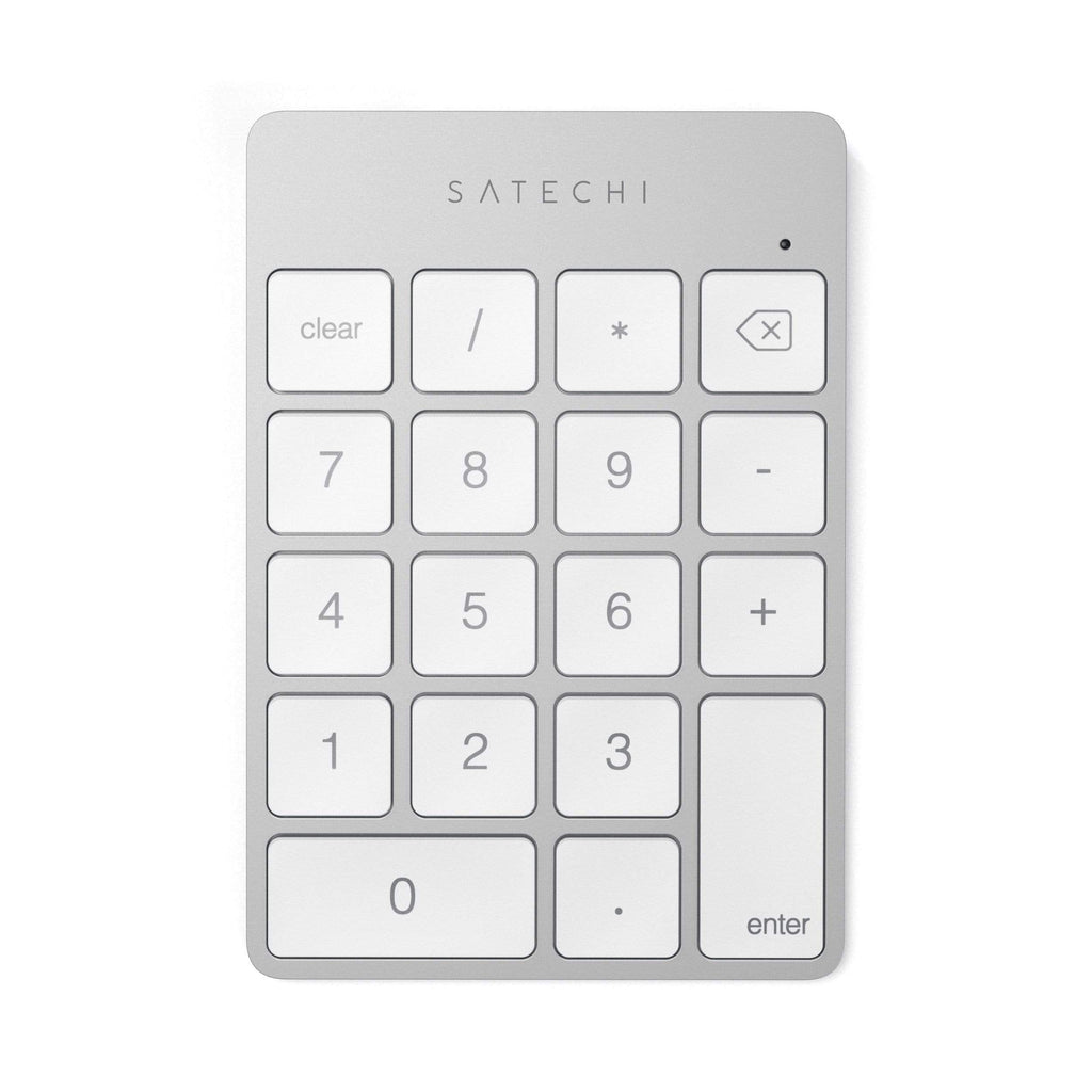 Aluminum Slim Rechargeable Bluetooth Keypad Keypads Satechi Silver