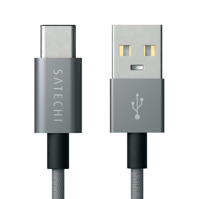 Aluminum Type-C USB 3.1 to Standard Type A USB 2.0 Cable Cables Satechi Space Gray