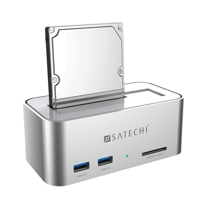 Aluminum USB 3.0 SATA III HDD / SSD Docking Station with 2-Port Hub and SD Card Reader Docking Satechi
