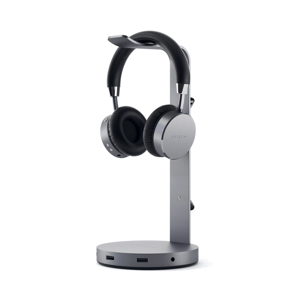 Aluminum USB-C Headphone Stand Stands ## Hubs Satechi Space Gray