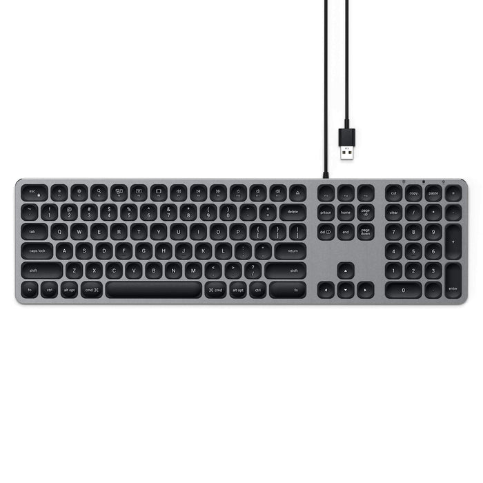 Aluminum Wired USB Keyboard Keyboards Satechi Space Gray