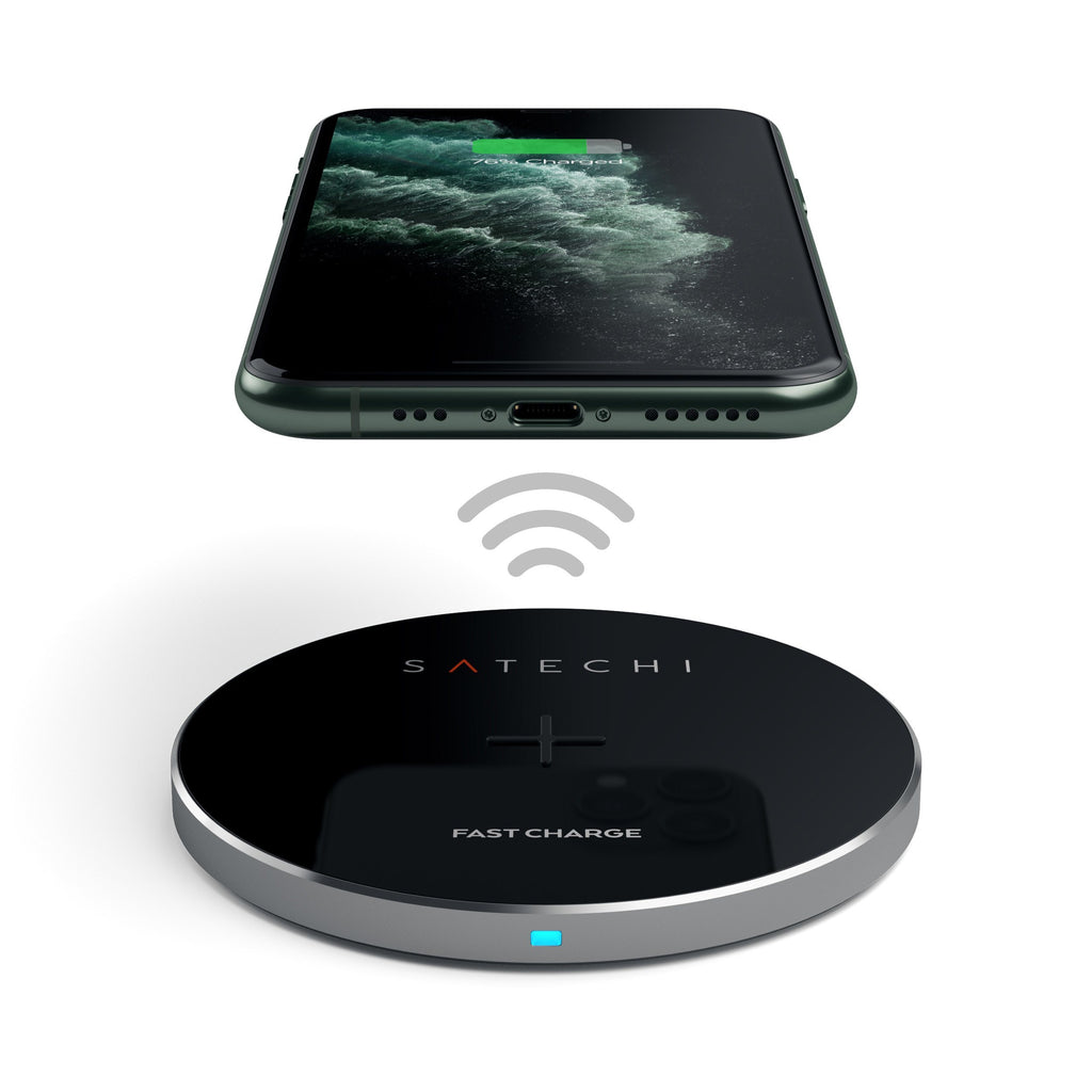 Aluminum Wireless Charger Portable Chargers Satechi Space Gray