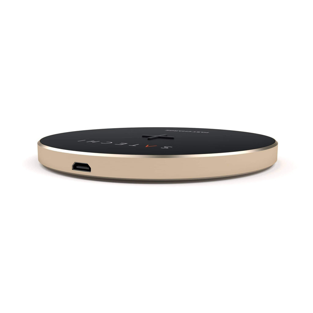 Aluminum Wireless Charger Portable Chargers Satechi Gold