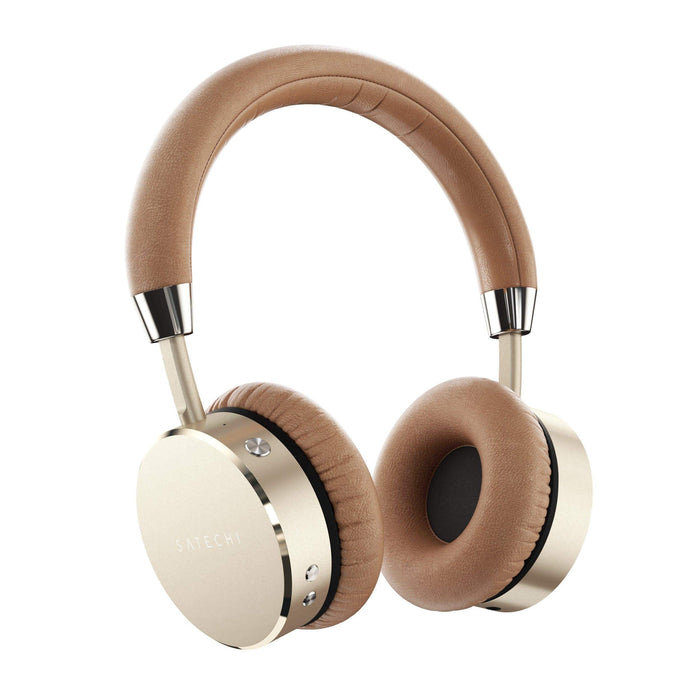 Bluetooth Aluminum Wireless Headphones Headphones Satechi Gold