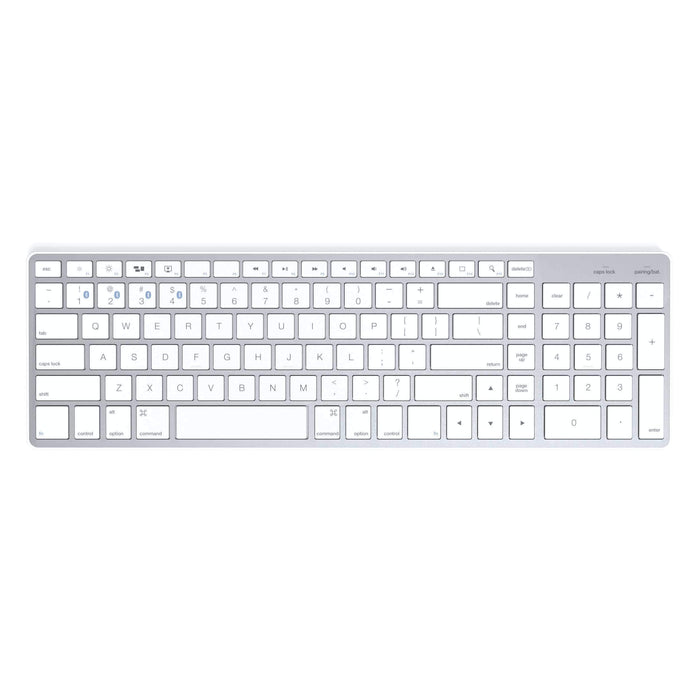 Bluetooth Wireless Smart Keyboard with 4-Device Sync Keyboards Satechi White