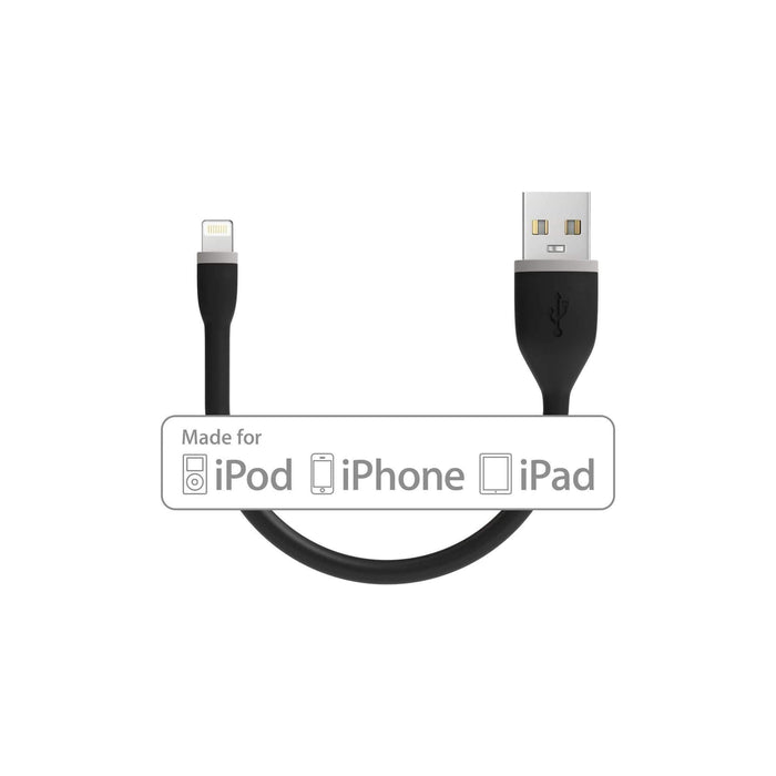 Flexible Lightning to USB Cable - Apple MFI Certified Charging Cables Satechi Black 6 Inches