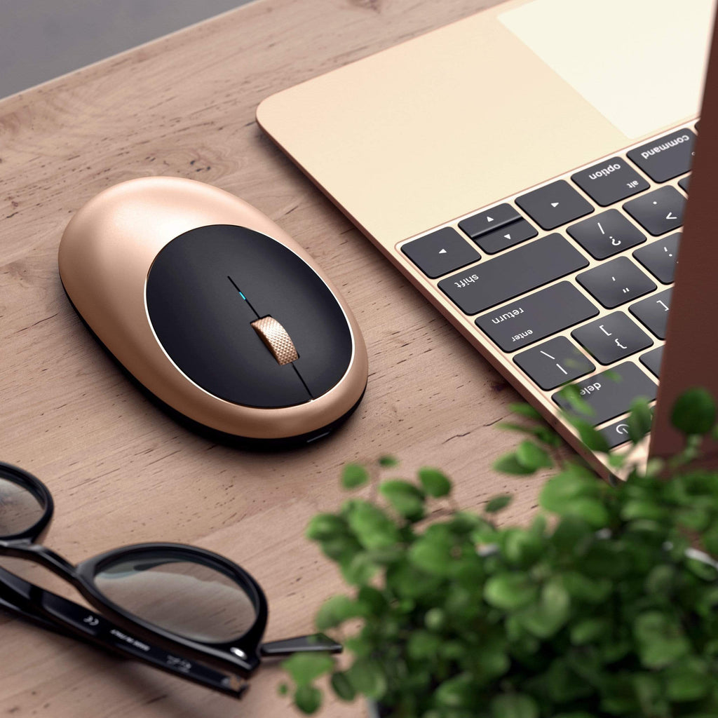 M1 Wireless Mouse Mice Satechi Gold