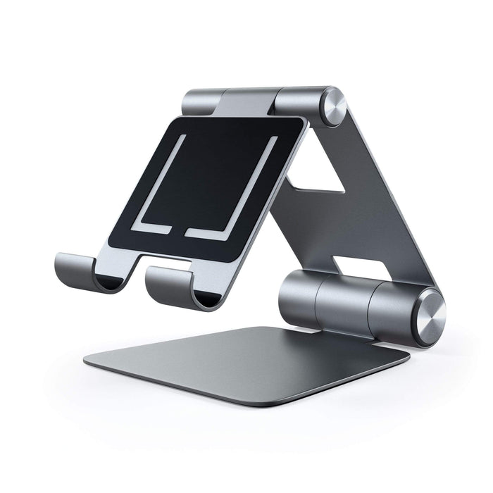 R1 Aluminum Hinge Holder Foldable Stand Mobile/ Tablet Satechi Space Gray