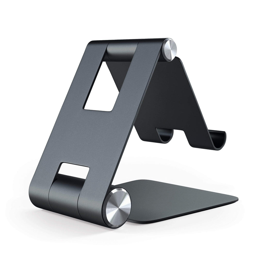 R1 Aluminum Hinge Holder Foldable Stand Mobile/ Tablet Satechi Black