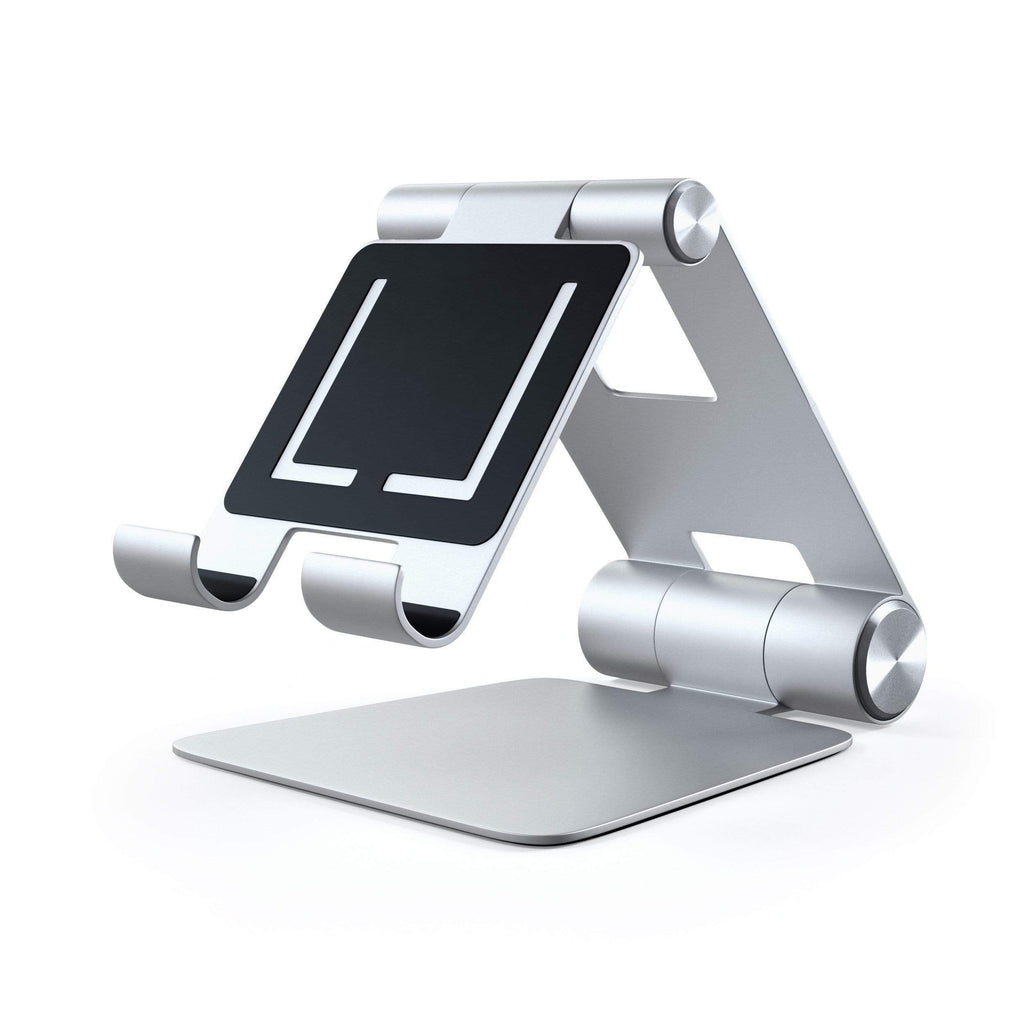R1 Aluminum Hinge Holder Foldable Stand Mobile/ Tablet Satechi Silver