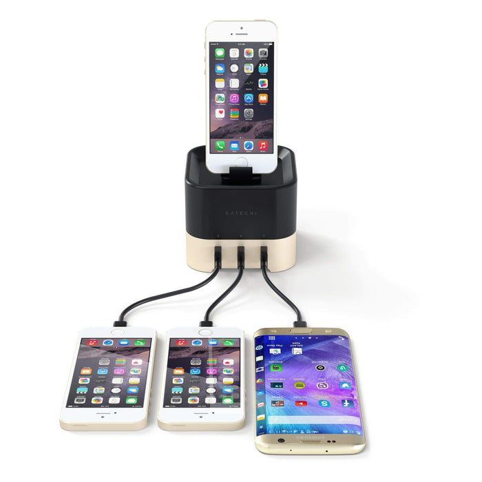 Smart Charging Stand for Apple Watch 1/2/3/4, Fitbit Blaze and iPhone XS Max/XS/XR/X Wall Chargers Satechi
