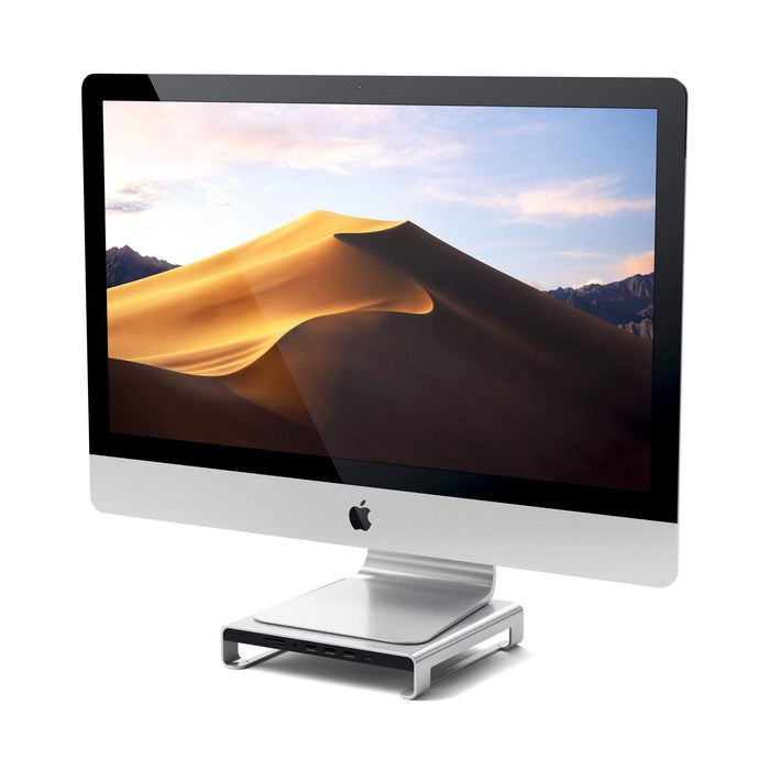 Type-C Aluminum Monitor Stand Hub for iMac USB-C Satechi Silver