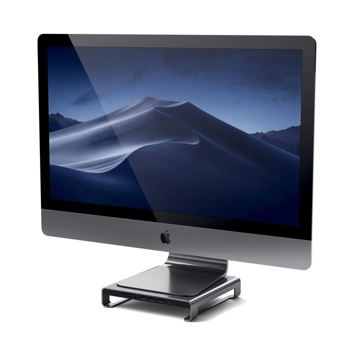 Type-C Aluminum Monitor Stand Hub for iMac USB-C Satechi Space Gray