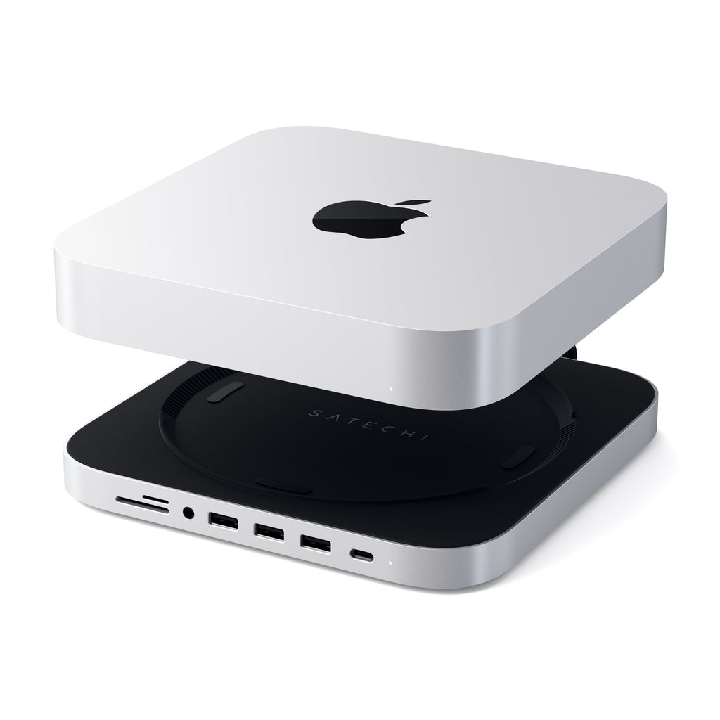 Type-C Aluminum Stand & Hub for Mac Mini Hubs Satechi Silver