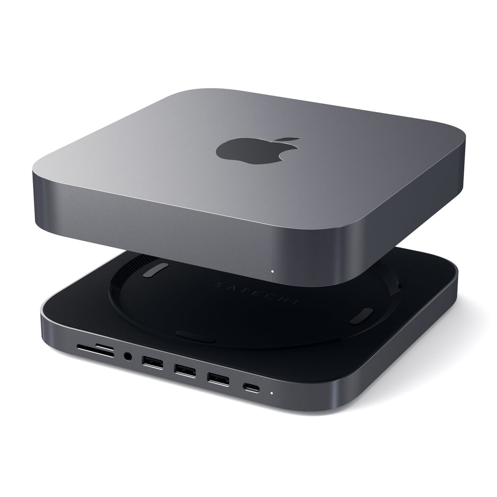 Type-C Aluminum Stand & Hub for Mac Mini USB Hubs Satechi Space Gray
