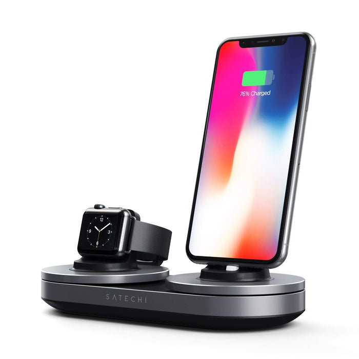 Type-C Dual Charging Station Charging Stations Satechi Space Gray