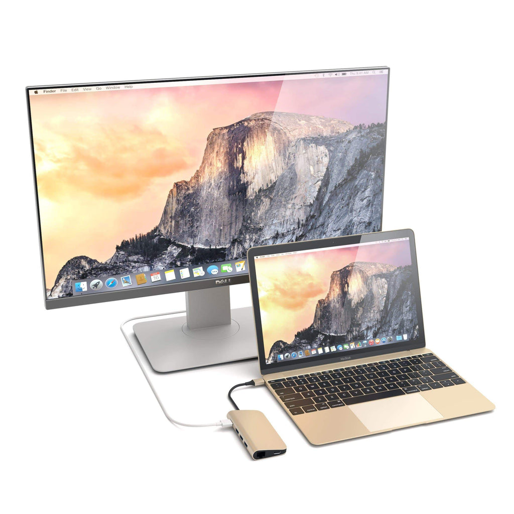 Type-C Multi-Port Adapter 4K with Ethernet USB-C Satechi Gold