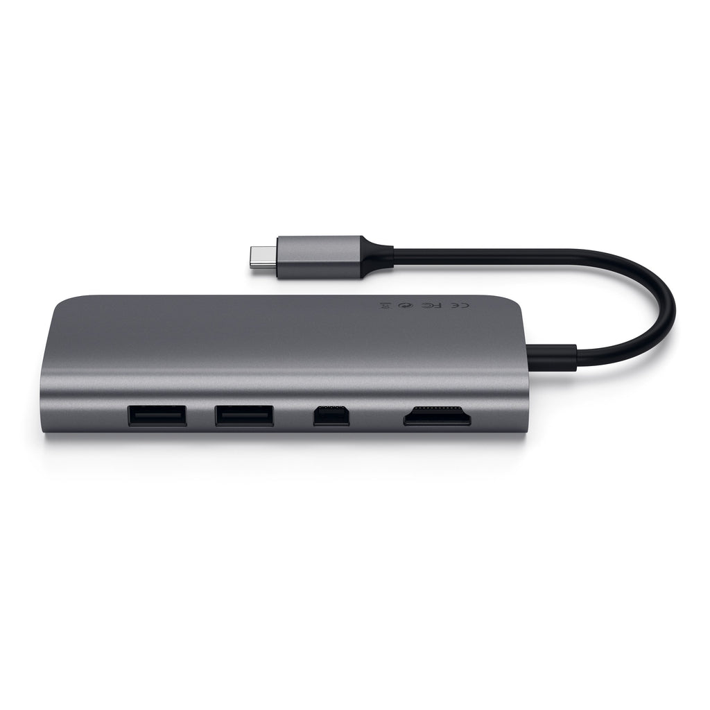 Type-C Multimedia Adapter Multi-Ports Satechi Space Gray