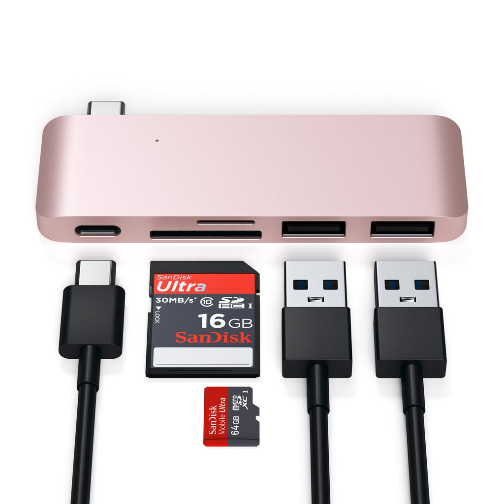 Type-C Pass-Through USB Hub Hubs Satechi Rose Gold