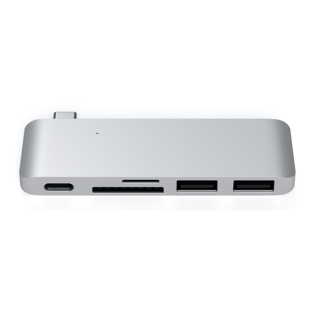 Type-C Pass-Through USB Hub Hubs Satechi Silver