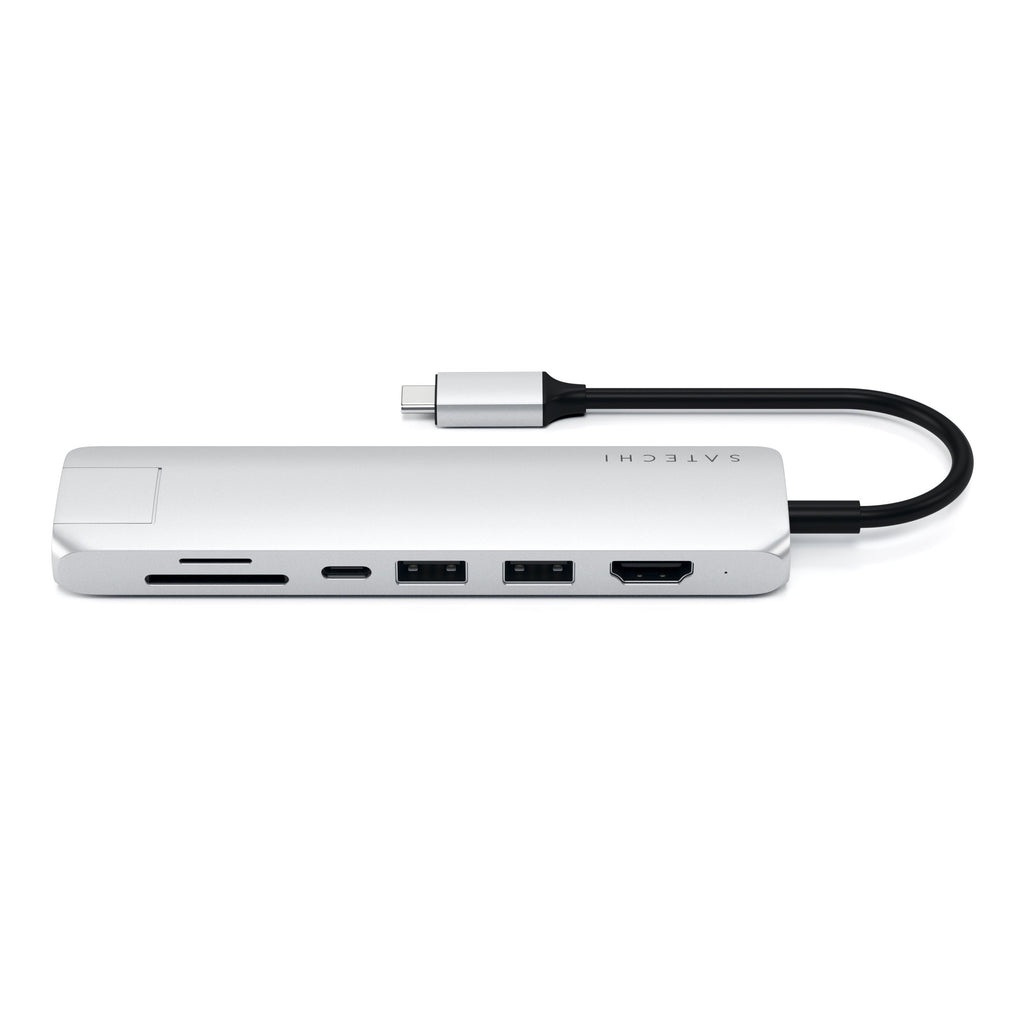 Type-C Slim Multi-Port Adapter with Ethernet USB-C Satechi Silver