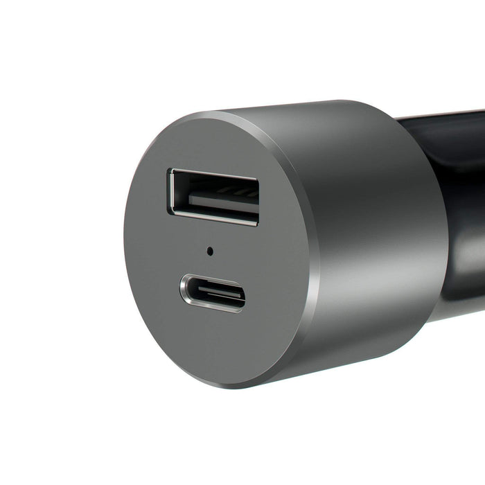 USB-C Car Charger Adapter with Type-C Fast Charge and Standard USB-A Outputs Car Charging Satechi