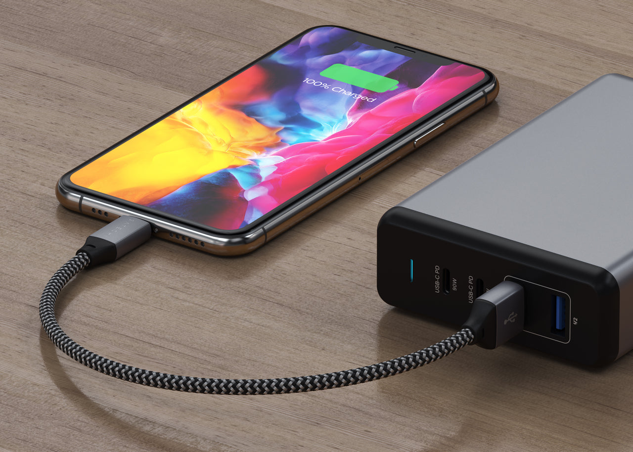 USB-A to Lightning Cable - 10 inches