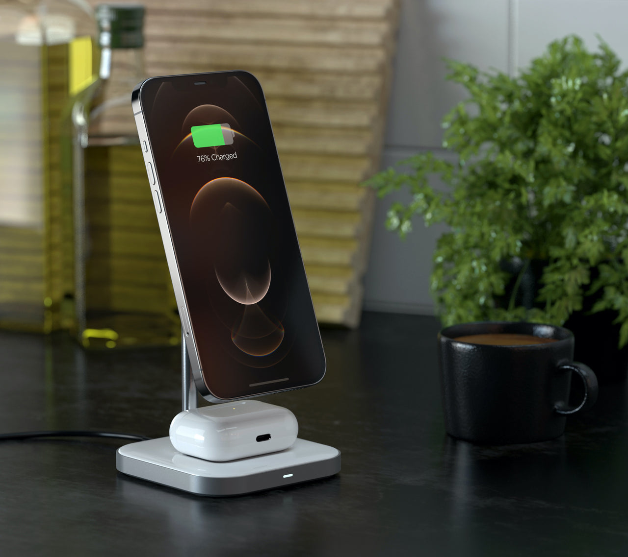 Aluminum 2-in-1 Magnetic Wireless Charging Stand