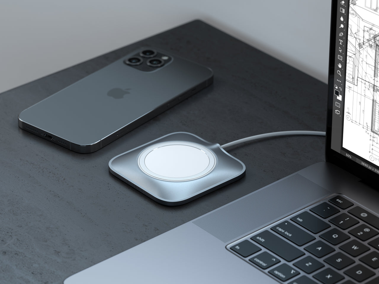 Aluminum Dock for MagSafe Charger