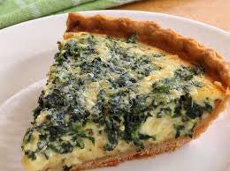 Spinach and Cream Cheese Whole Quiche